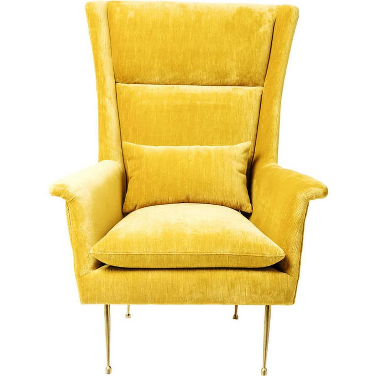Fauteuil Vegas Forever Kare Design  jaune
