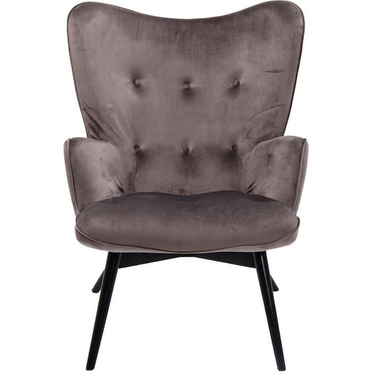 Fauteuil VICKY Kare Design velours gris