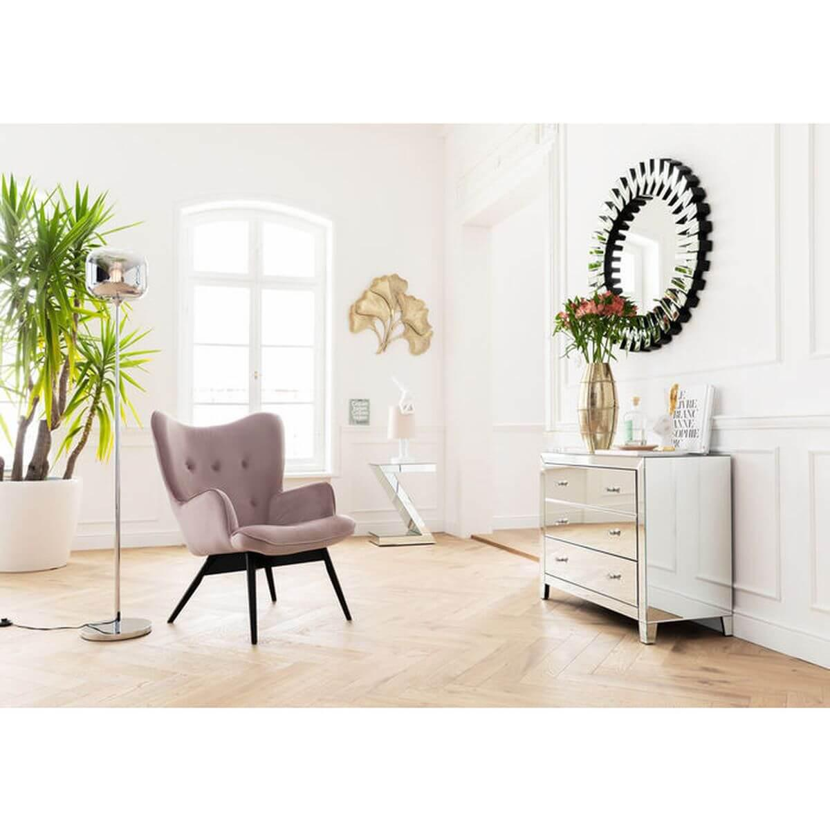 Fauteuil VICKY Kare Design velours rose