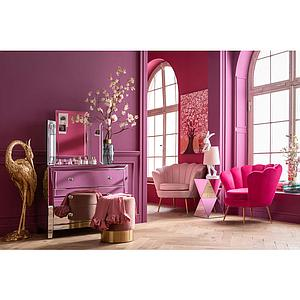 Fauteuil WATER LILY Kare Design fuchsia