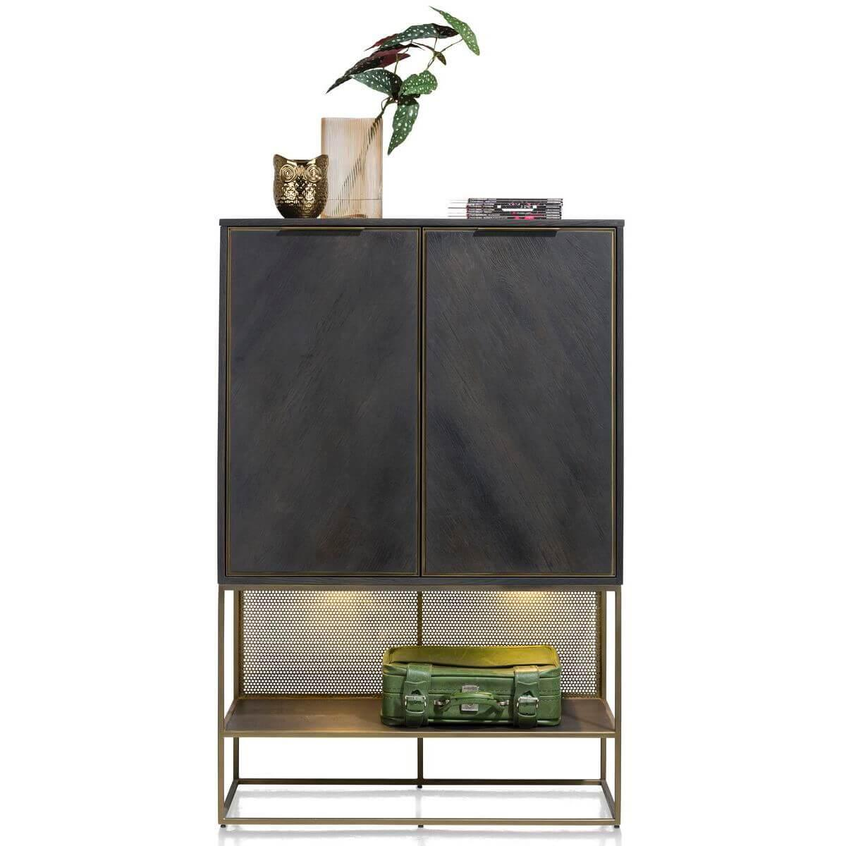 Highboard 100cm CITY Henders & Hazel castle anthracite