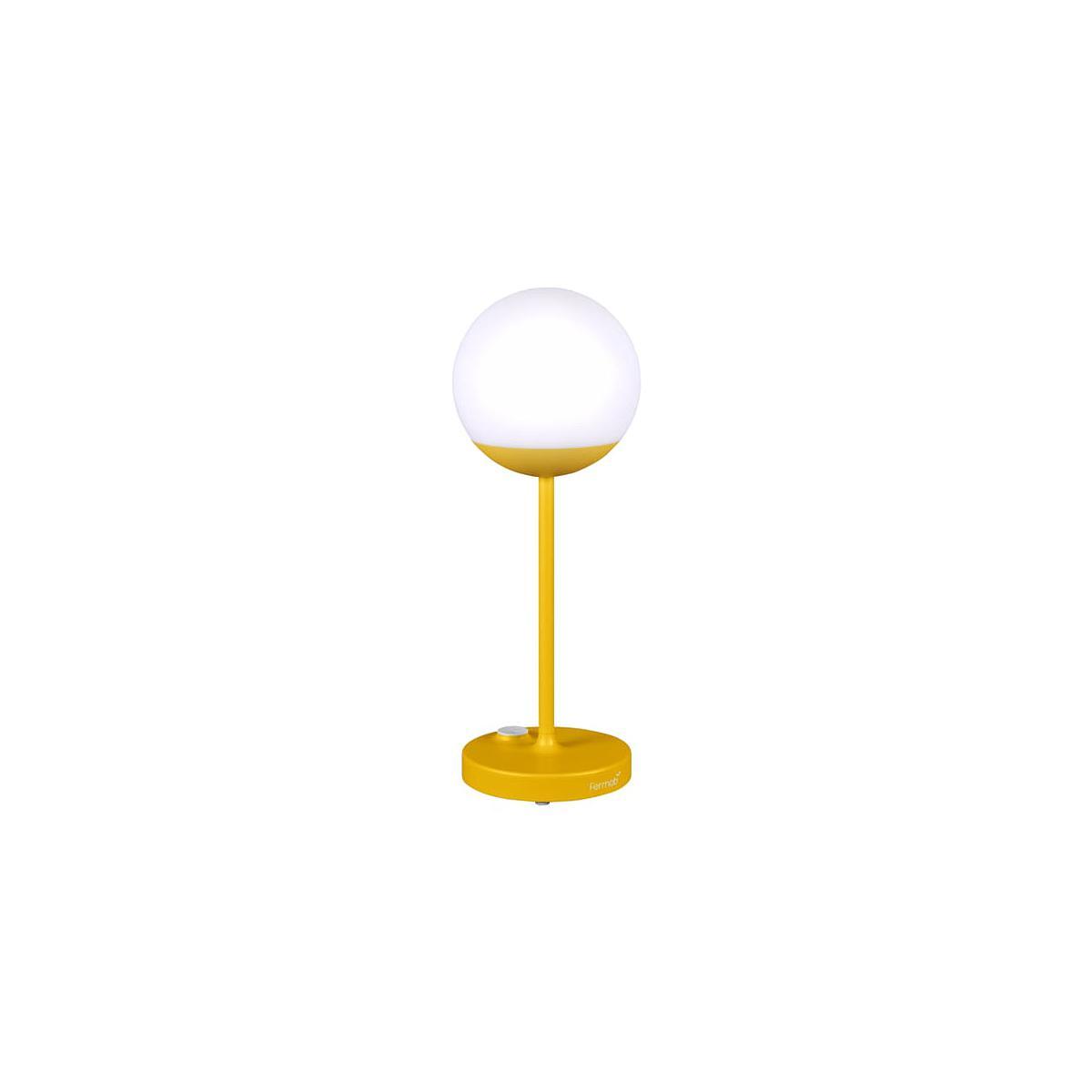 Lampe à poser MOON Fermob jaune miel