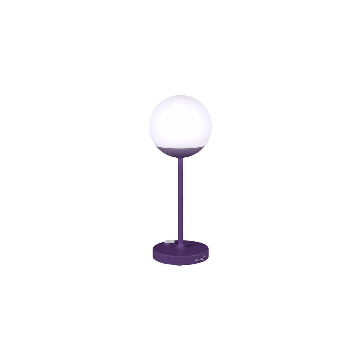 Lampe à poser MOON Fermob violet aubergine