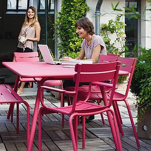 LUXEMBOURG  by Fermob Bridge Coquelicot