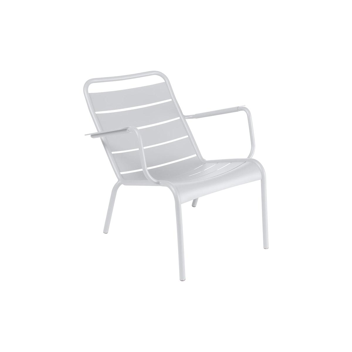 LUXEMBOURG  by Fermob Fauteuil bas blanc coton