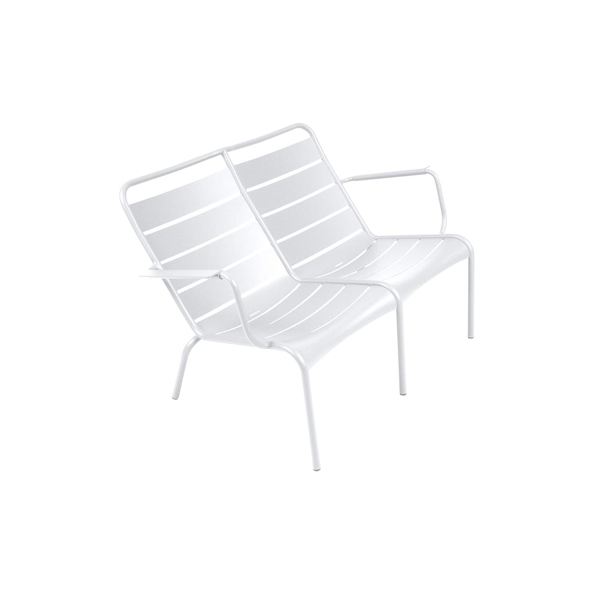 LUXEMBOURG  by Fermob Fauteuil bas duo Blanc coton