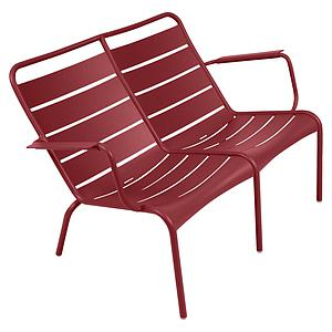 LUXEMBOURG  by Fermob Fauteuil bas duo Coquelicot