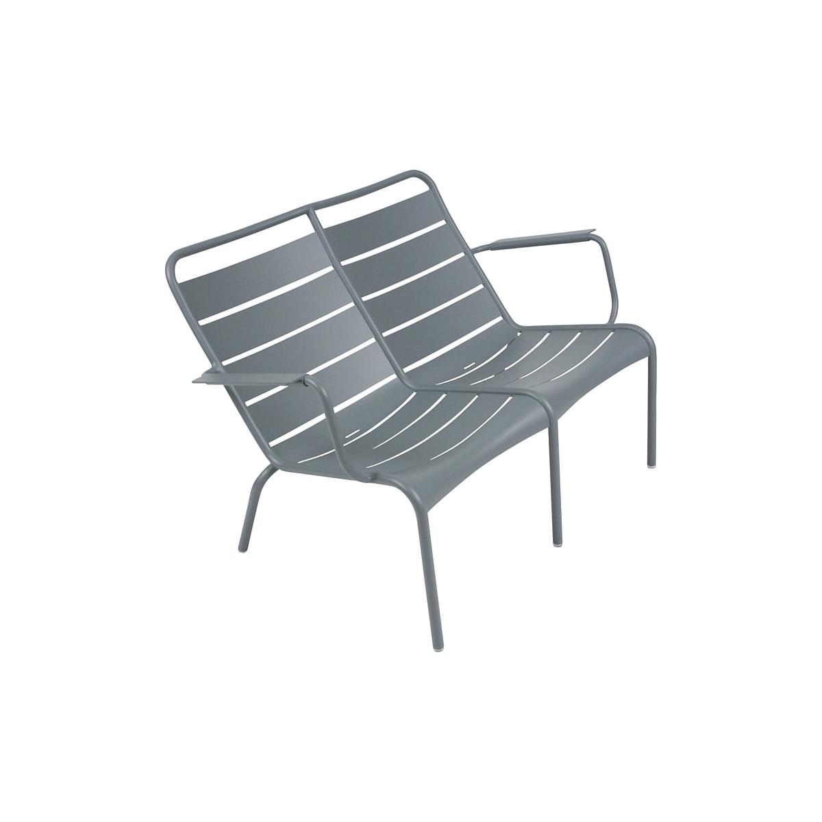 LUXEMBOURG  by Fermob Fauteuil bas duo Gris orage