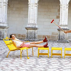 LUXEMBOURG  by Fermob Fauteuil bas duo Rouille