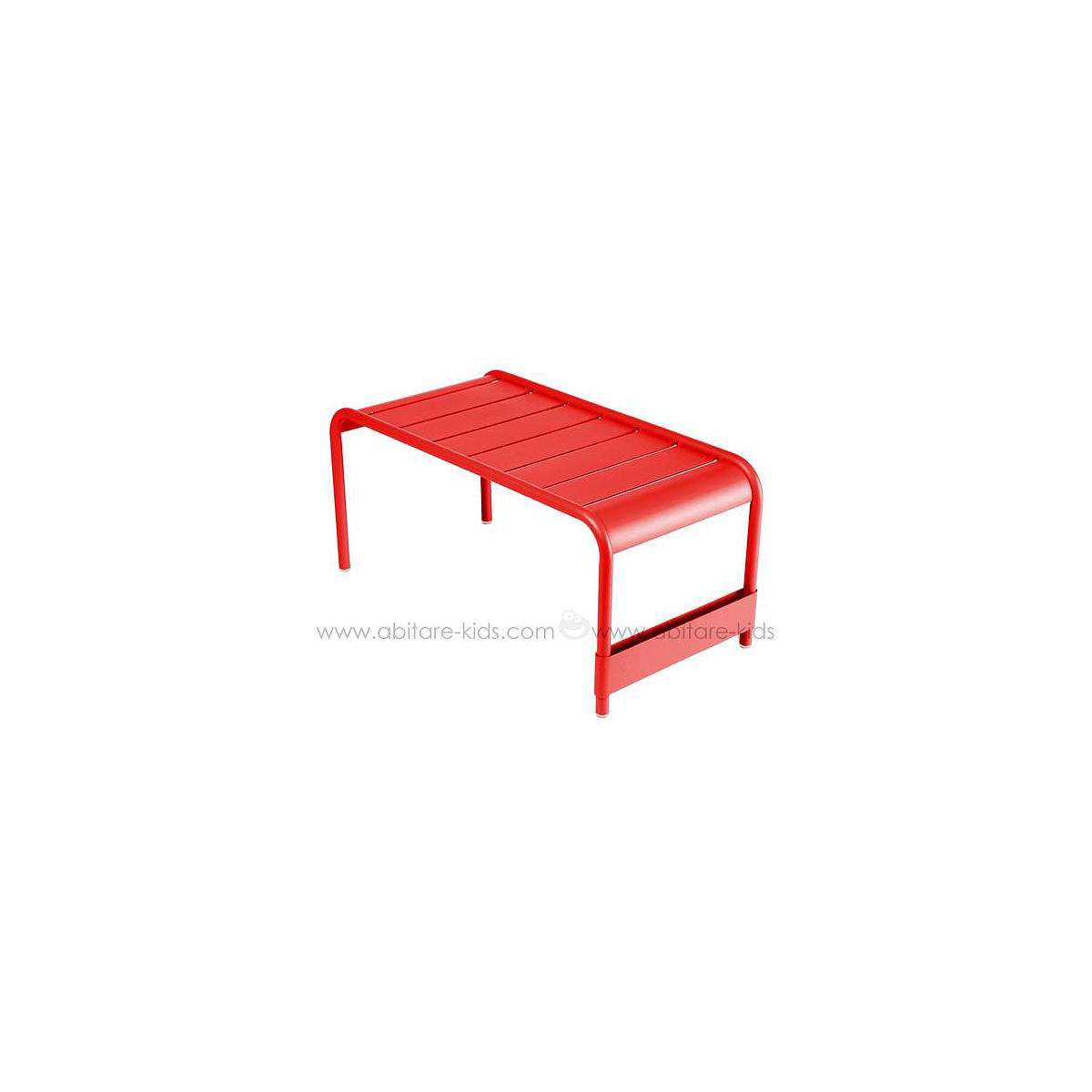LUXEMBOURG by Fermob grande table basse coquelicot