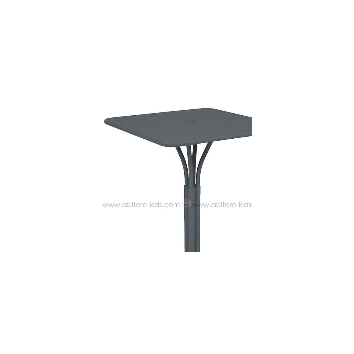 LUXEMBOURG by Fermob guéridon haut 80x80 cm gris orage