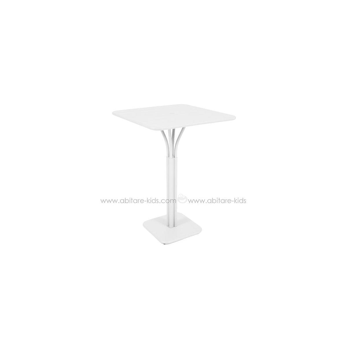 LUXEMBOURG by Fermob guéridon haut 80x80cm blanc coton