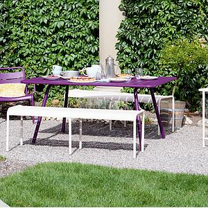 LUXEMBOURG by Fermob Table 143x80 cm aubergine