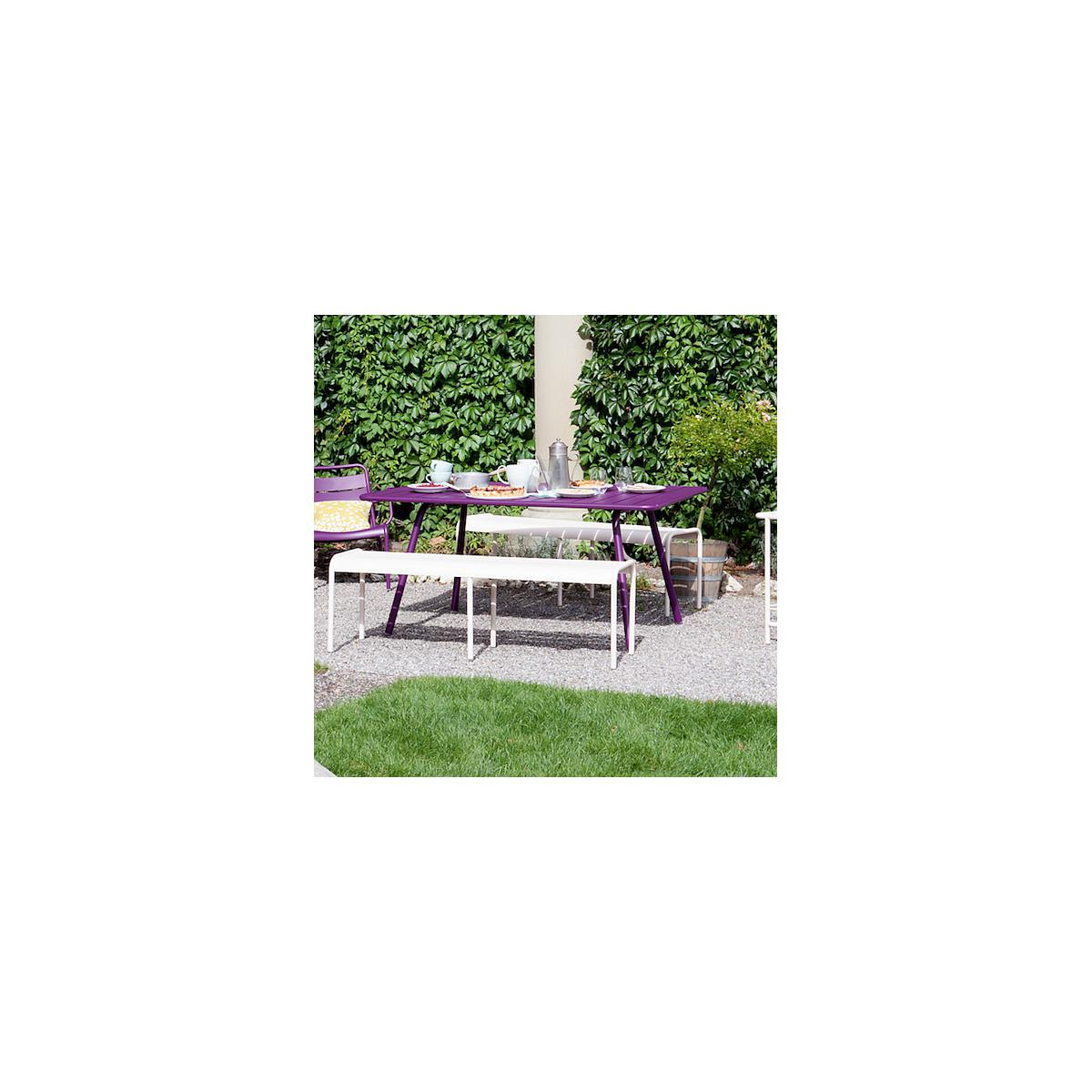LUXEMBOURG by Fermob Table 143x80 cm blanc coton