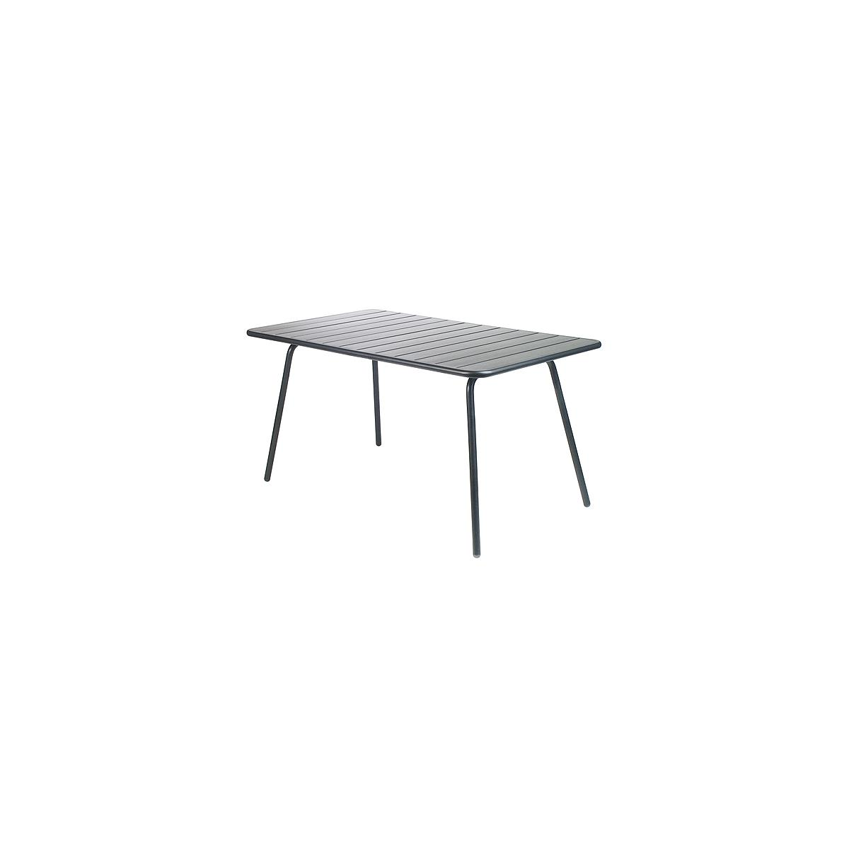 LUXEMBOURG by Fermob Table 143x80 cm Carbone