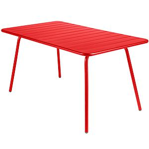 LUXEMBOURG by Fermob Table 143x80 cm coquelicot