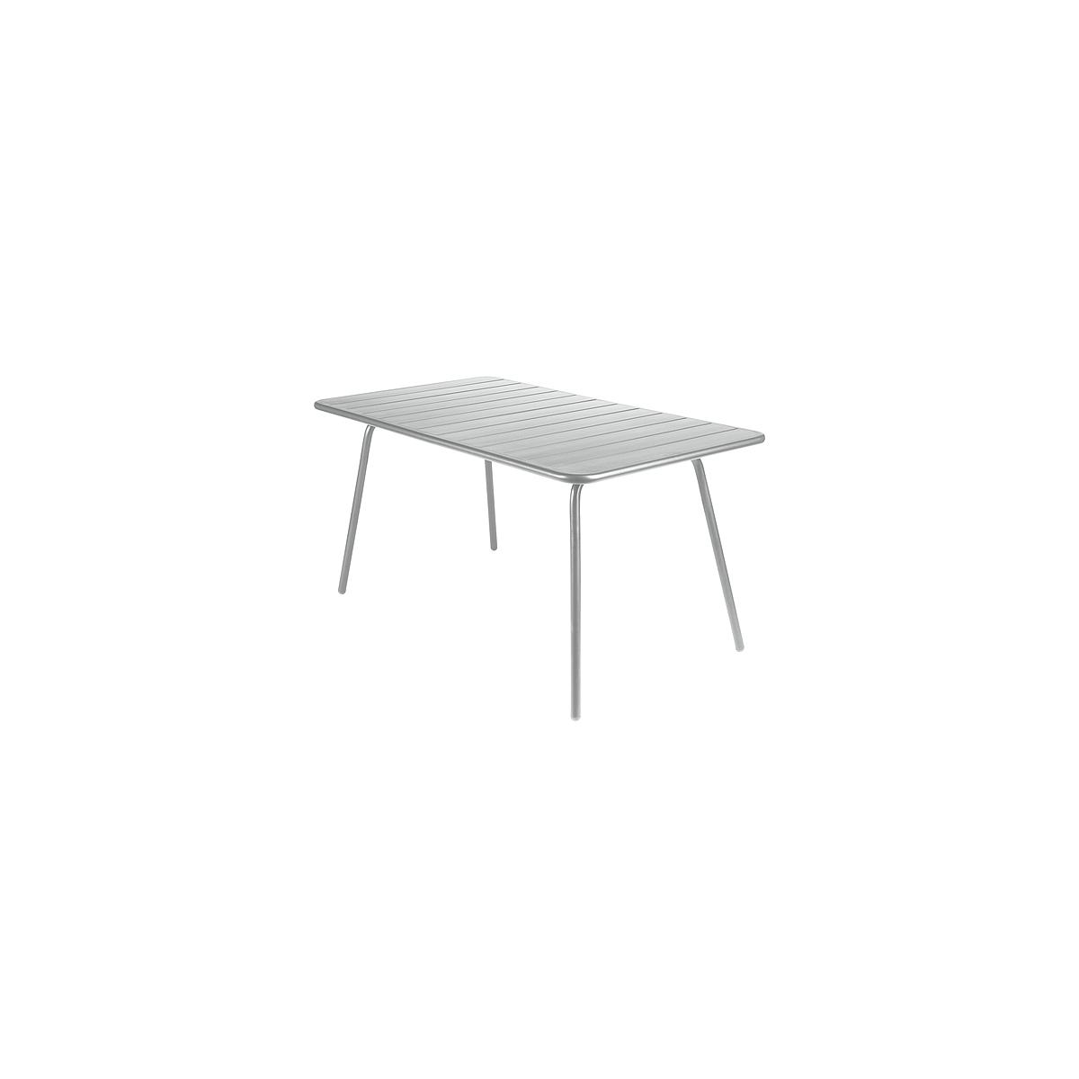 LUXEMBOURG by Fermob Table 143x80 cm gris métal