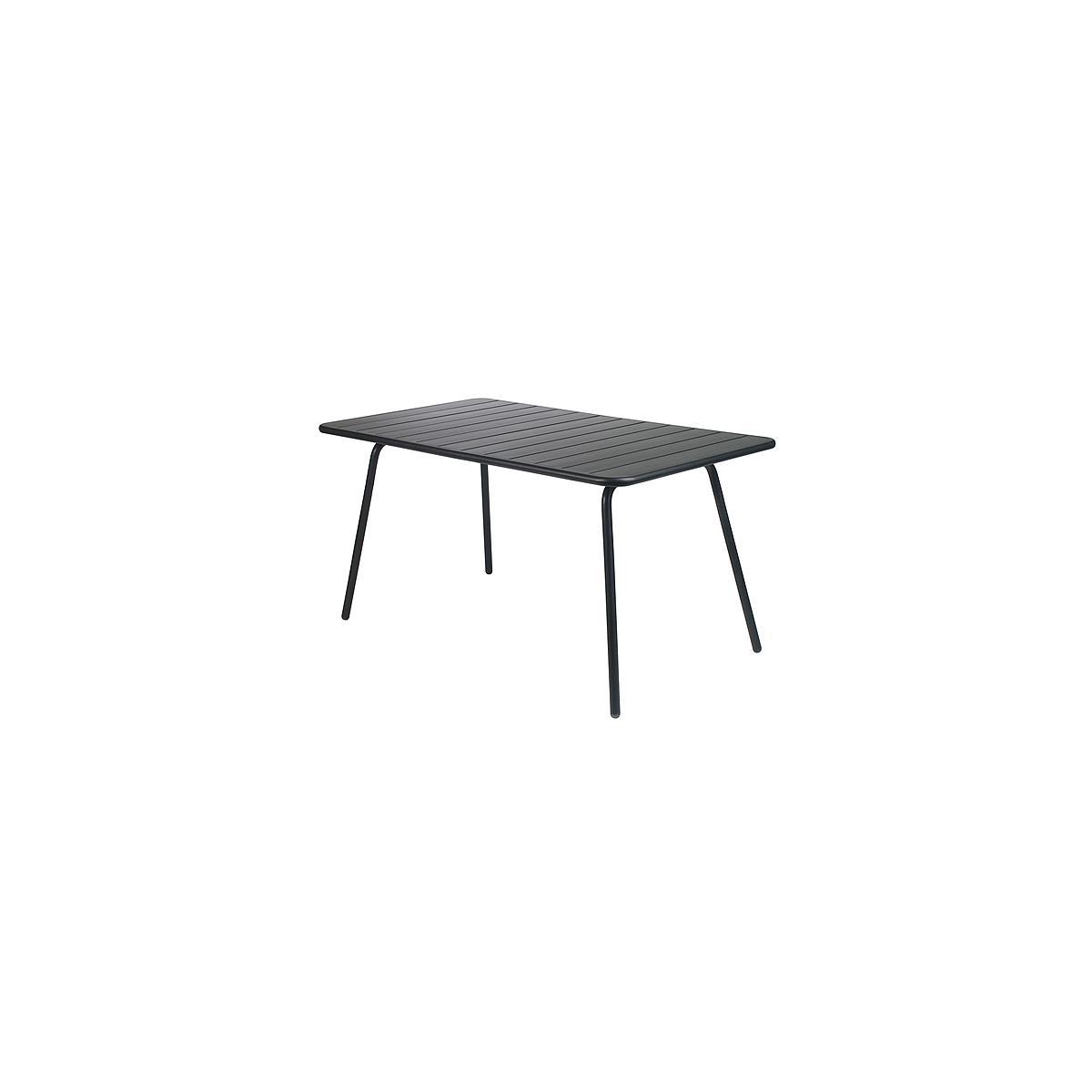 LUXEMBOURG by Fermob Table 143x80 cm noir réglisse