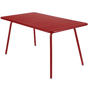 LUXEMBOURG by Fermob Table 143x80 cm rouge piment