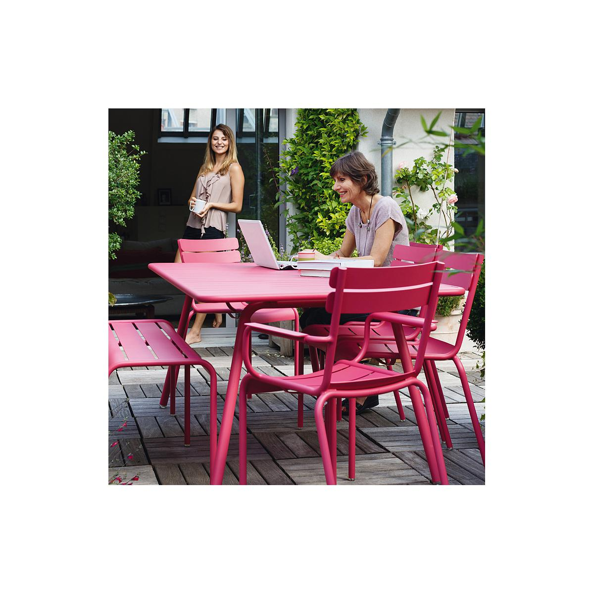 LUXEMBOURG by Fermob Table 8 personnes blanc coton
