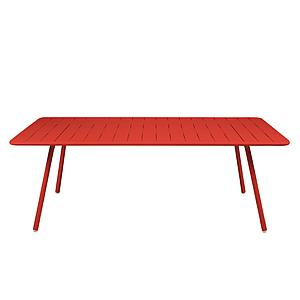 LUXEMBOURG by Fermob Table 8 personnes coquelicot