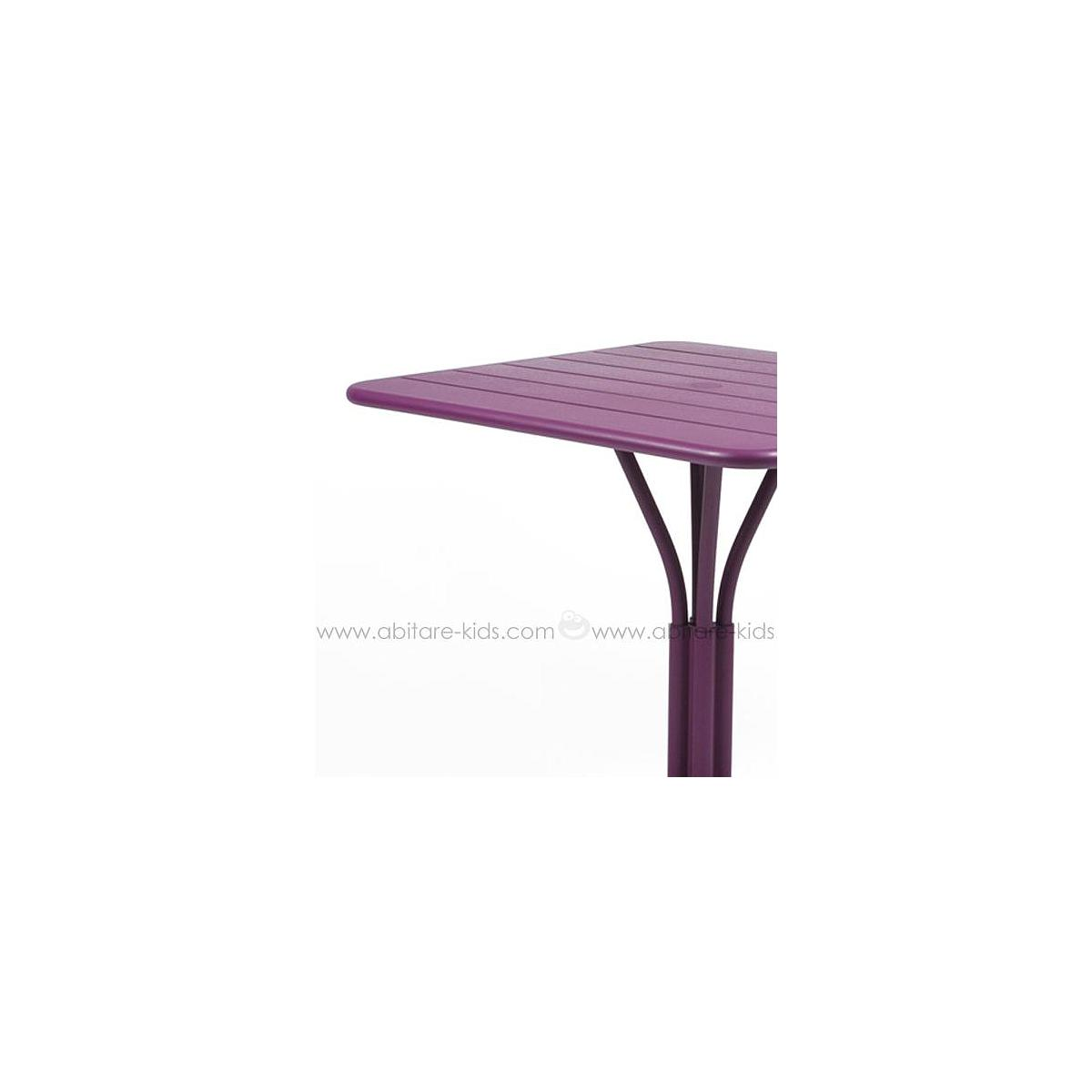 LUXEMBOURG by Fermob Table 80x80 cm aubergine