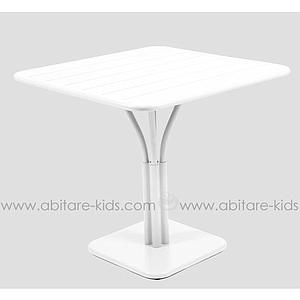 LUXEMBOURG by Fermob Table 80x80 cm blanc coton
