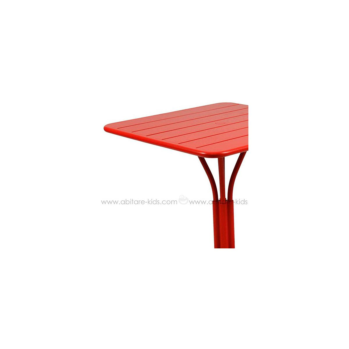 LUXEMBOURG by Fermob Table 80x80 cm coquelicot
