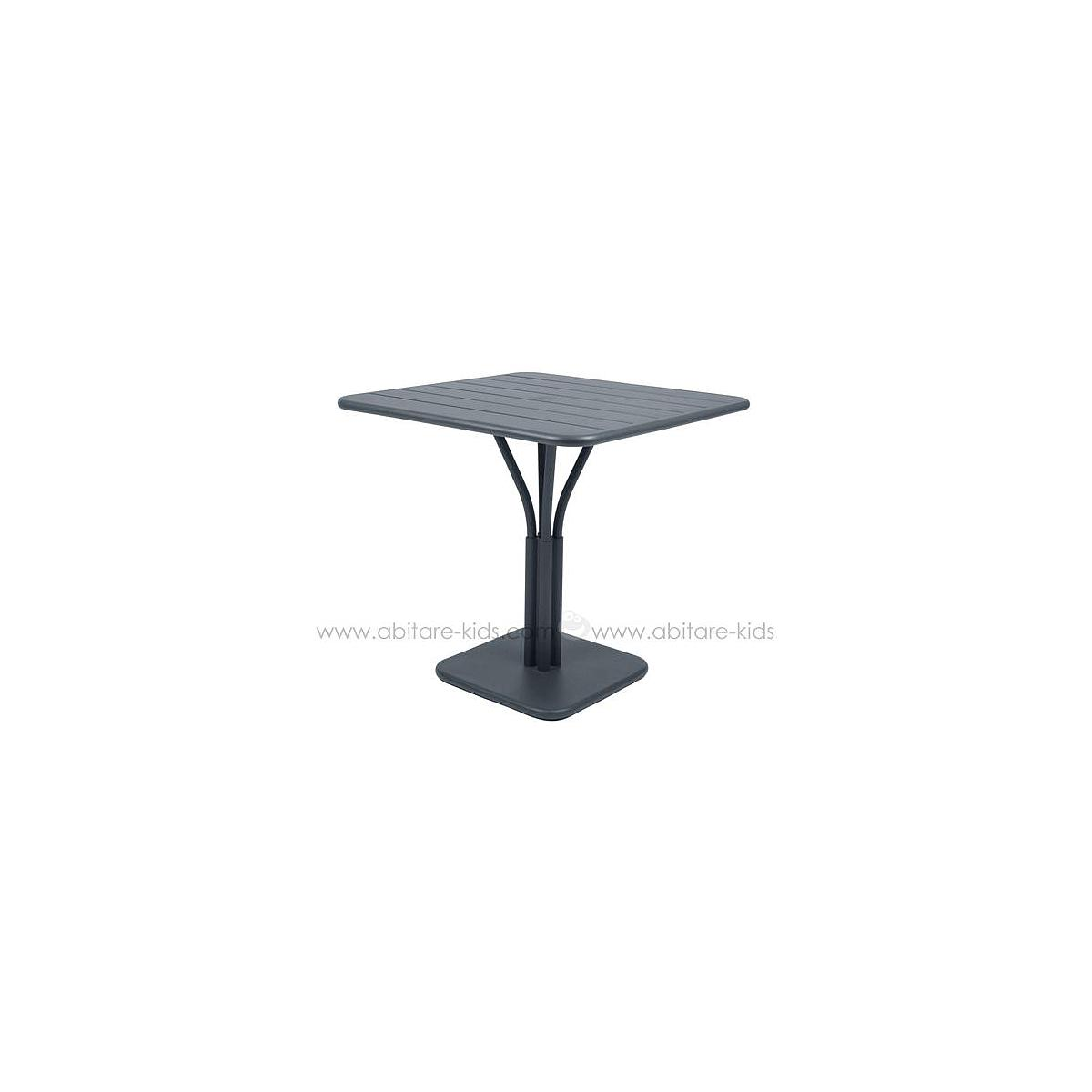 LUXEMBOURG by Fermob Table 80x80 cm gris orage