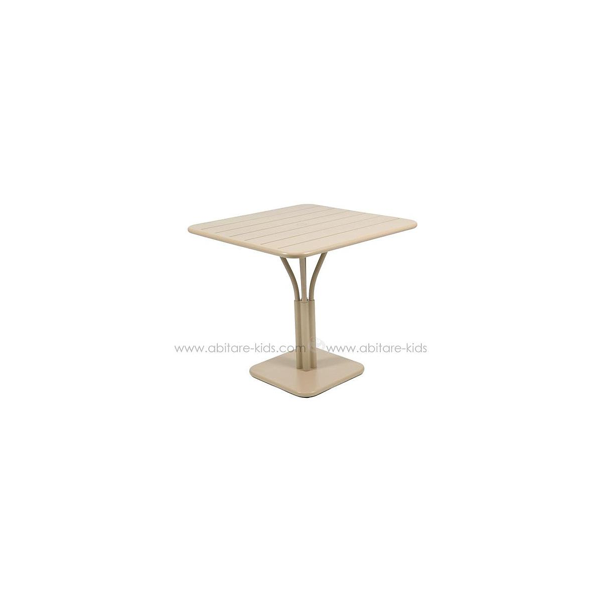 LUXEMBOURG by Fermob Table 80x80 cm muscade