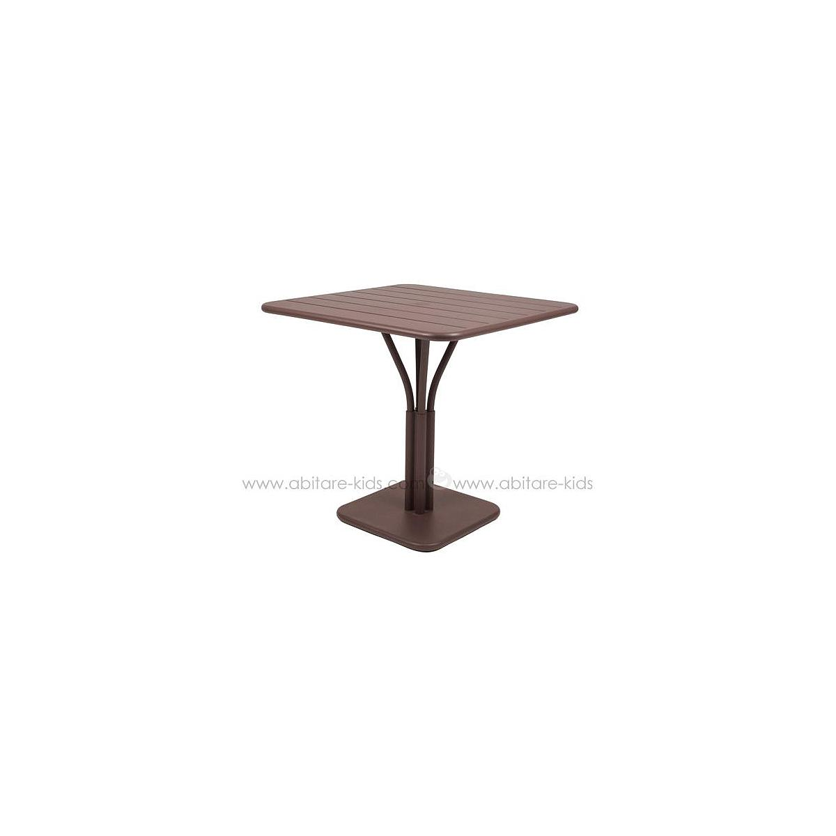 LUXEMBOURG by Fermob Table 80x80 cm rouille