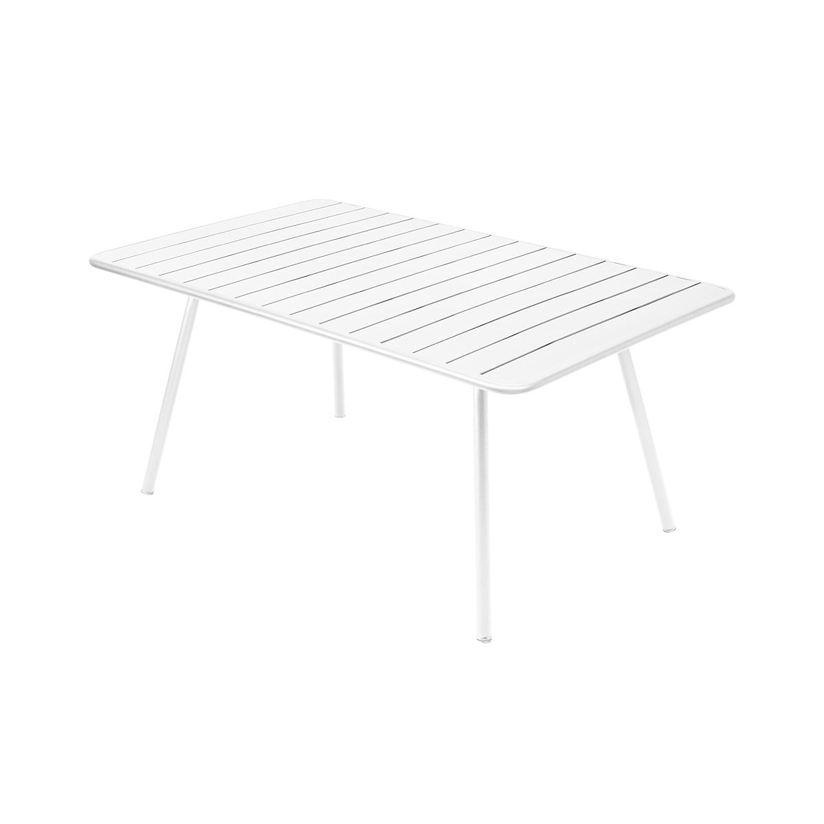 LUXEMBOURG by Fermob Table confort 6 blanc coton