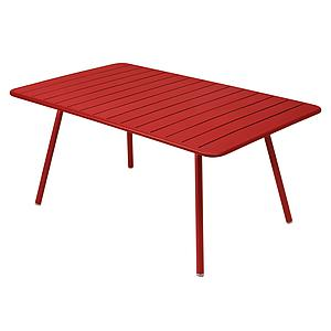 LUXEMBOURG by Fermob Table confort 6 coquelicot