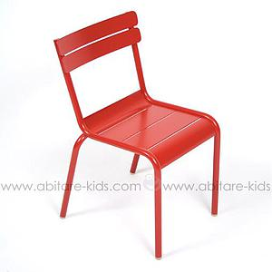LUXEMBOURG KID by Fermob Chaise coquelicot