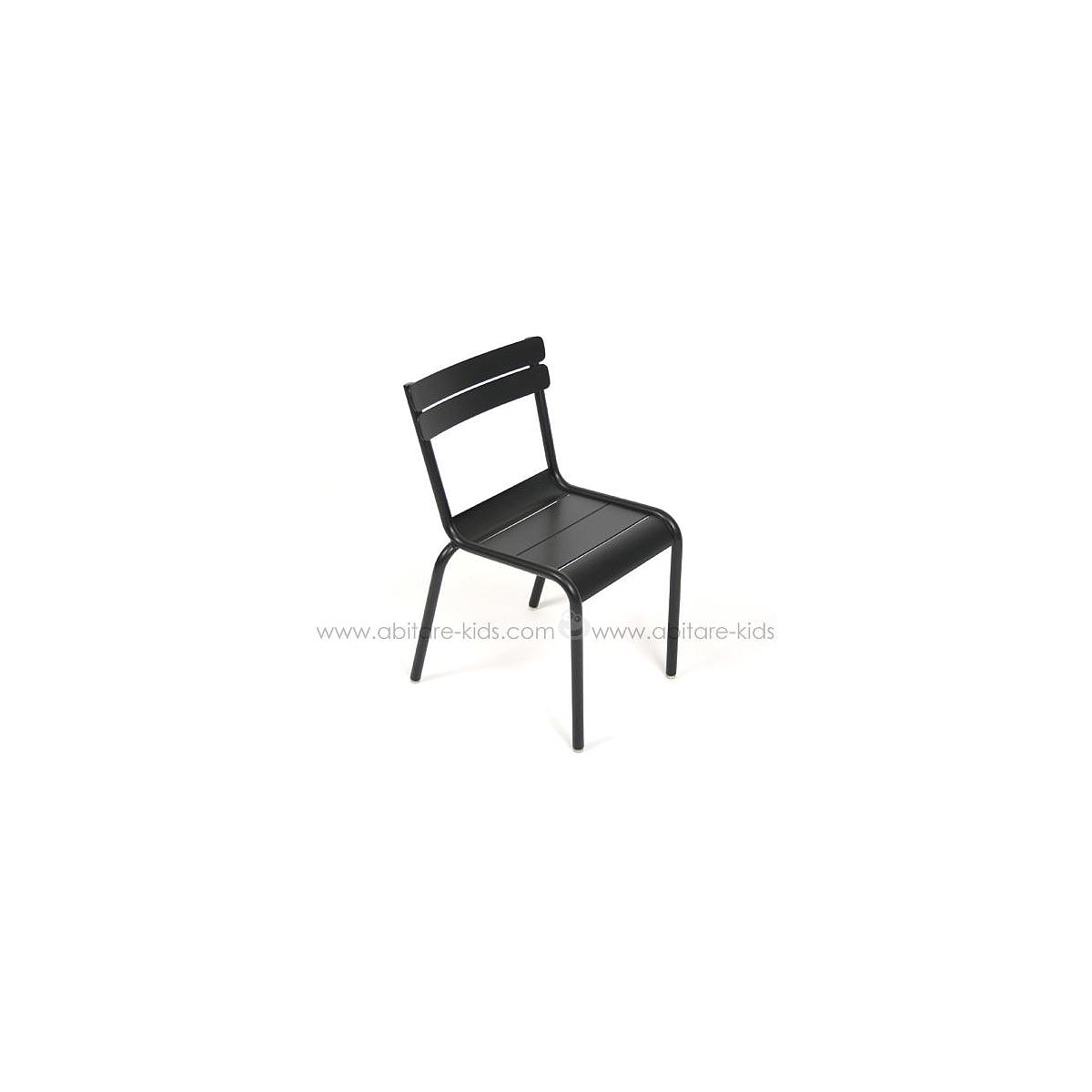 LUXEMBOURG KID by Fermob Chaise noir réglisse