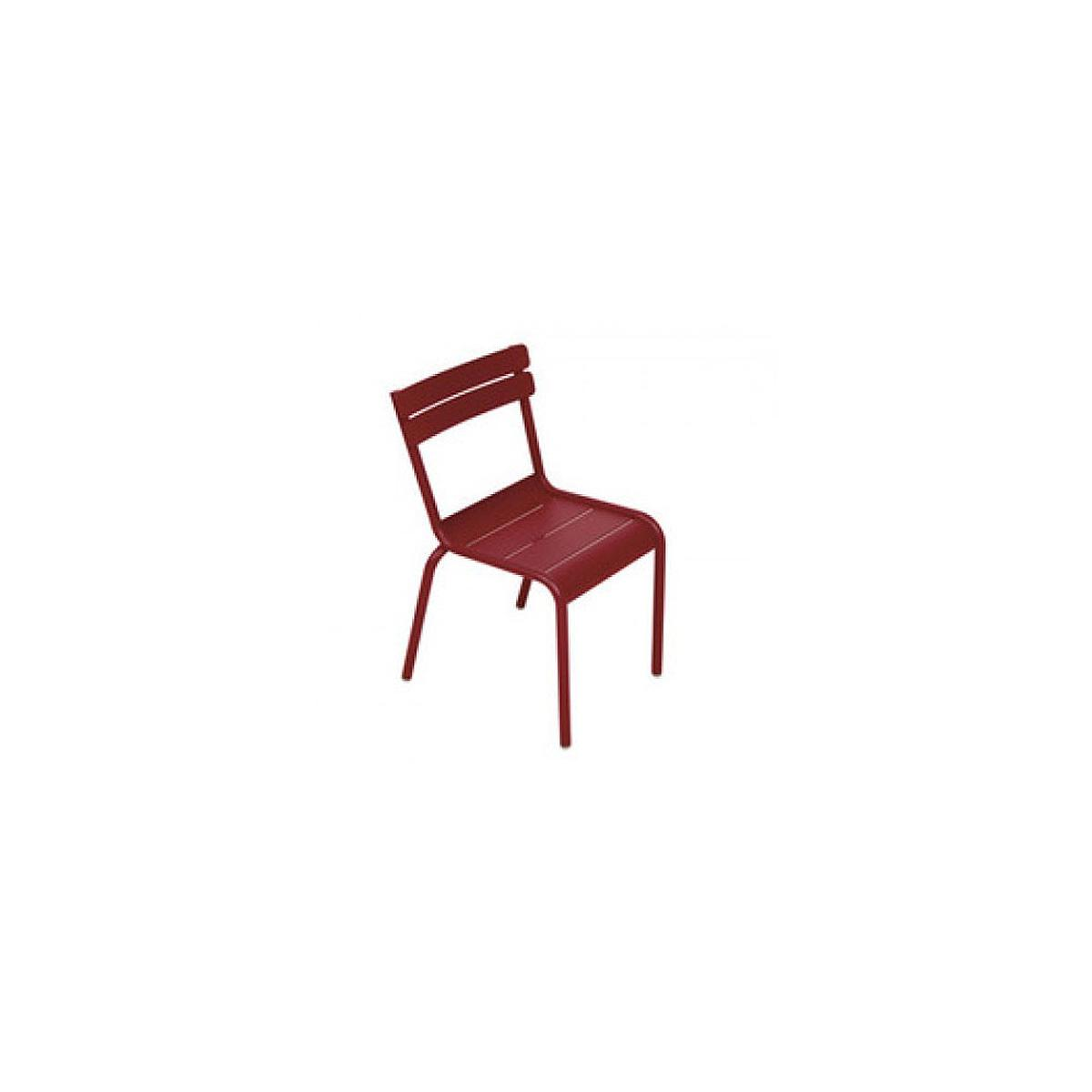 LUXEMBOURG KID by Fermob Chaise rouge piment