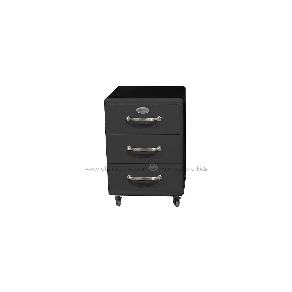 MALIBU by Tenzo Caisson 3 tiroirs - Noir