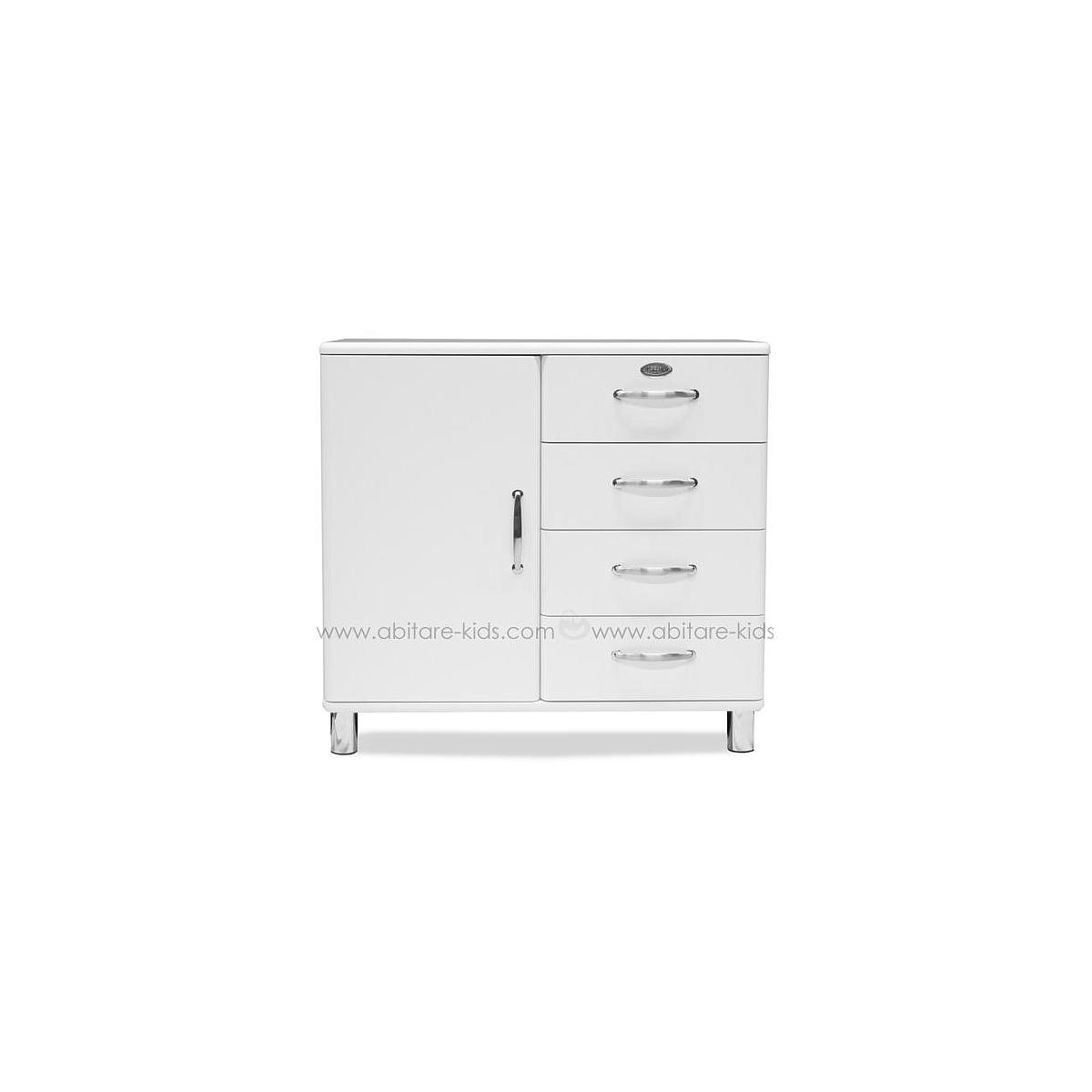 MALIBU by Tenzo Commode 1 porte/ 4 tiroirs - Blanc