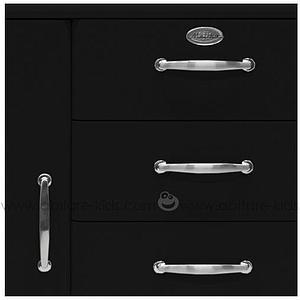 MALIBU by Tenzo Commode 1 porte/ 4 tiroirs - Noir