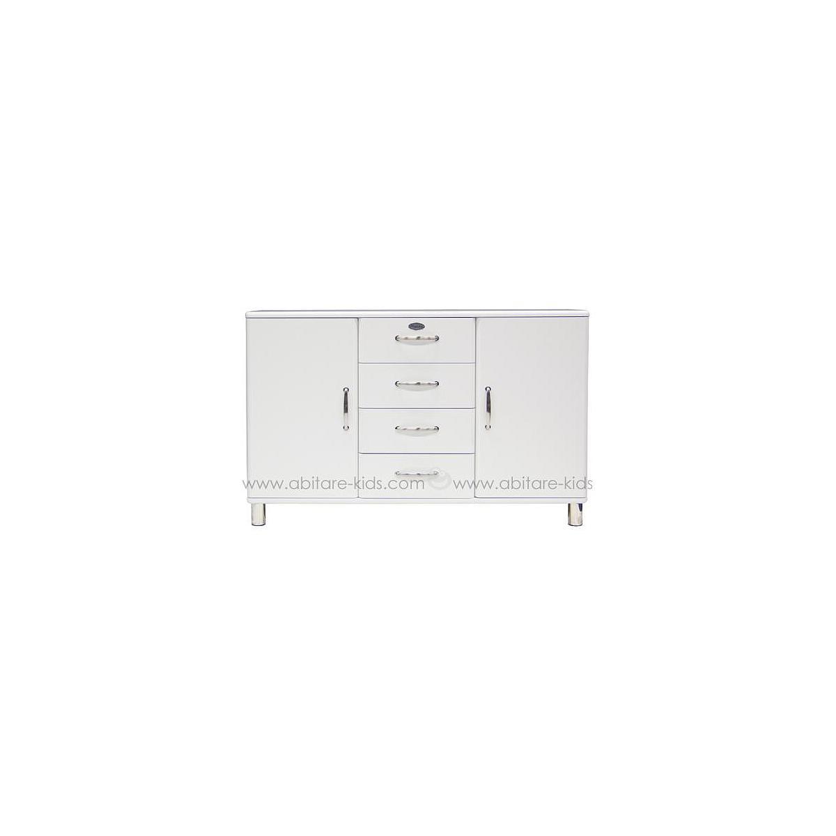 MALIBU by Tenzo Commode 2 portes/ 4 tiroirs - Blanc