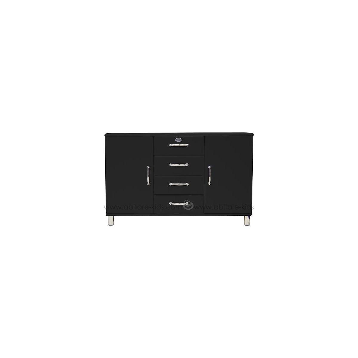 MALIBU by Tenzo Commode 2 portes/ 4 tiroirs - Noir