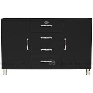 MALIBU by Tenzo Commode 2 portes/ 4 tiroirs - Noir