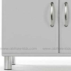 MALIBU by Tenzo Commode 2 portes et 1 tiroir - Gris argent