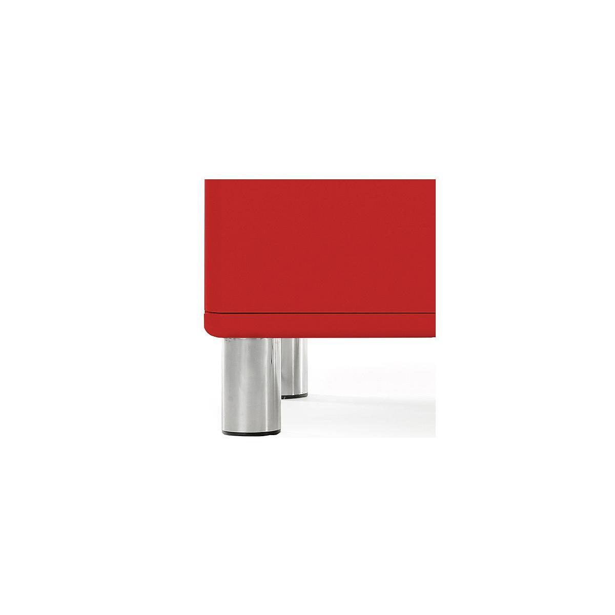 MALIBU by Tenzo Commode 2 portes et 1 tiroir - Rouge