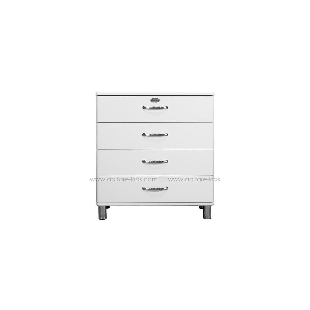 MALIBU by Tenzo Commode 4 tiroirs larges - Blanc