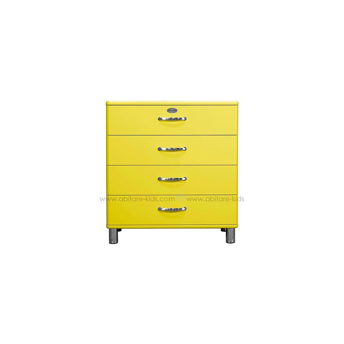 MALIBU by Tenzo Commode 4 tiroirs larges - Jaune