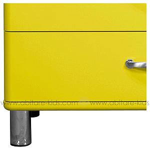 MALIBU by Tenzo Commode 4 tiroirs larges - Jaune
