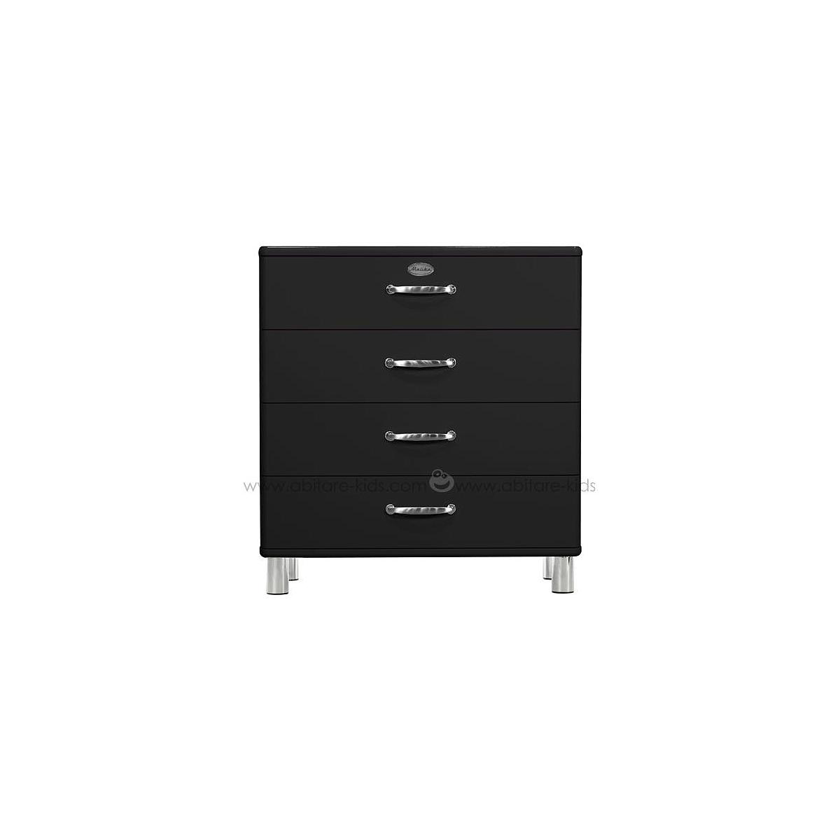 MALIBU by Tenzo Commode 4 tiroirs larges - Noir