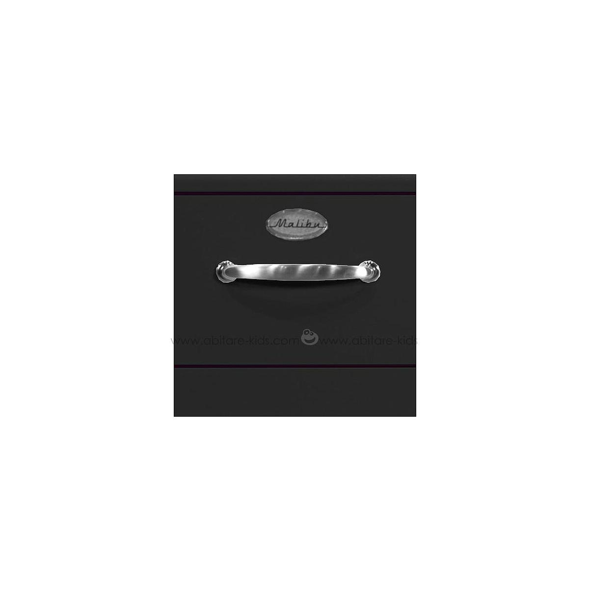 MALIBU by Tenzo Commode 4 tiroirs larges - Noir
