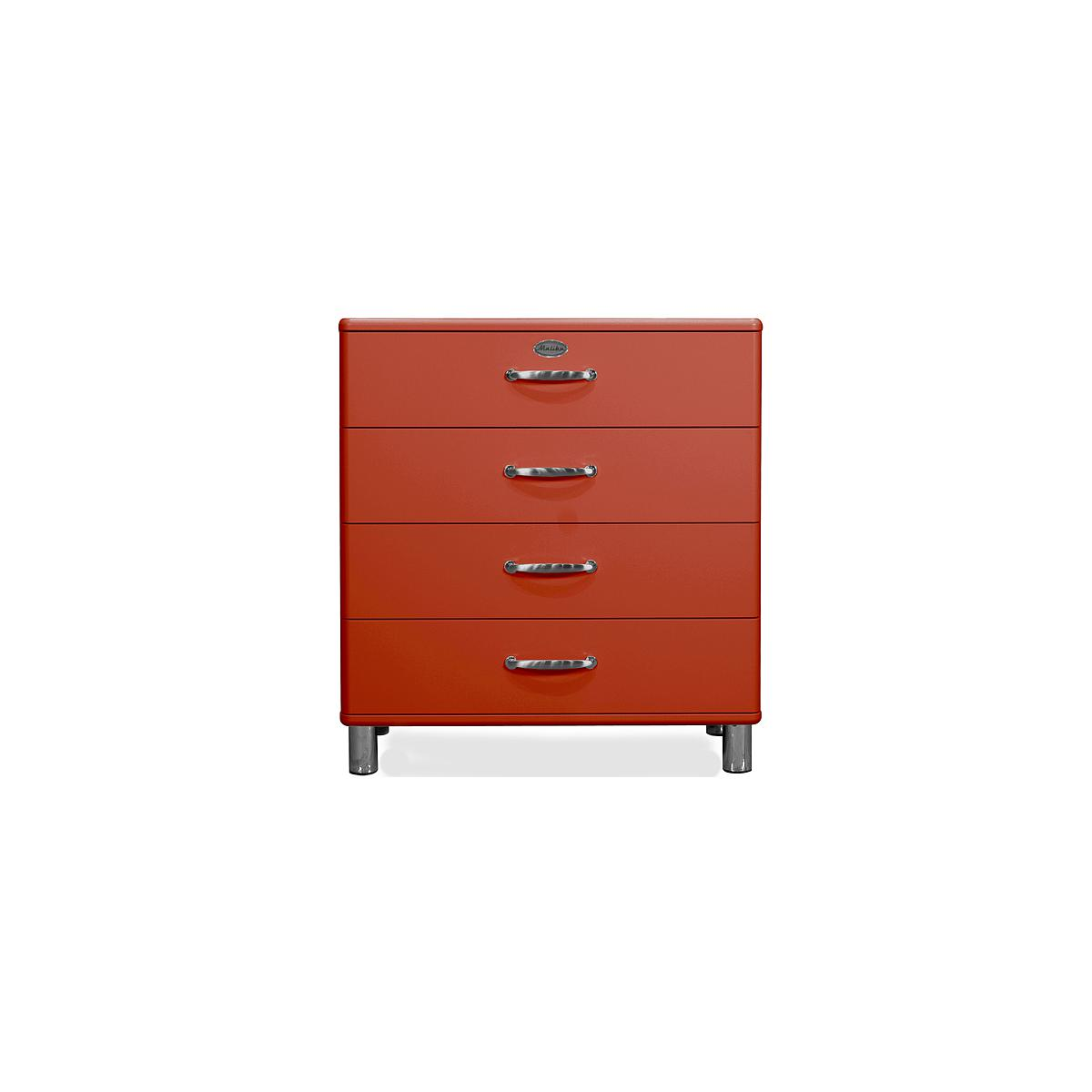 MALIBU by Tenzo Commode 4 tiroirs larges - Rouge